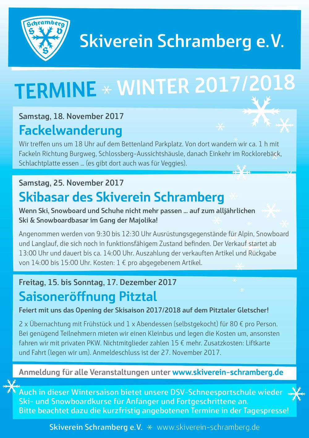 Flyer Veranstaltungen Winter 2017/18 Seite 1